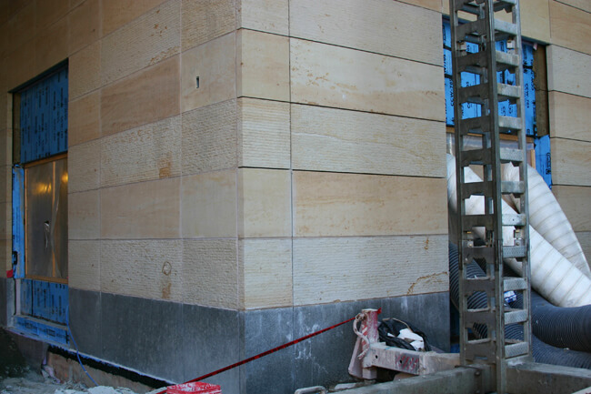 VSA progress photos - Ohio sandstone instead of precast concrete -for some color! (2)